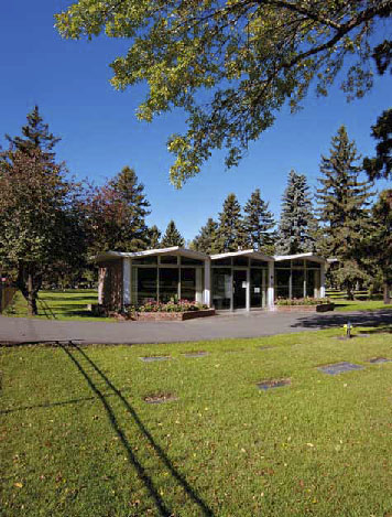 Edmonton Cemetery Office, photo by James Dow.