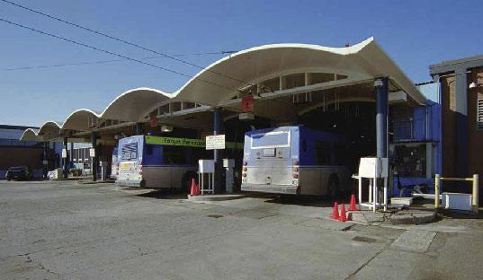 Westwood Transit Garage, photo by James Dow