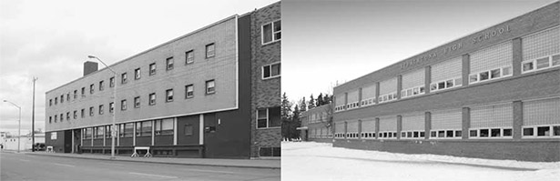 Left to right: Salvation Army Hostel (David Murray), Strathcona Composite High School (David Murray)