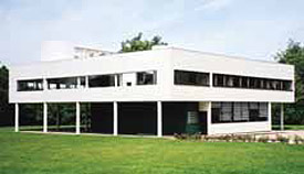 The Villa Savoye designed in 1929 in Poissy, France by Le Corbusier was a highly influential modern building (David Murray).